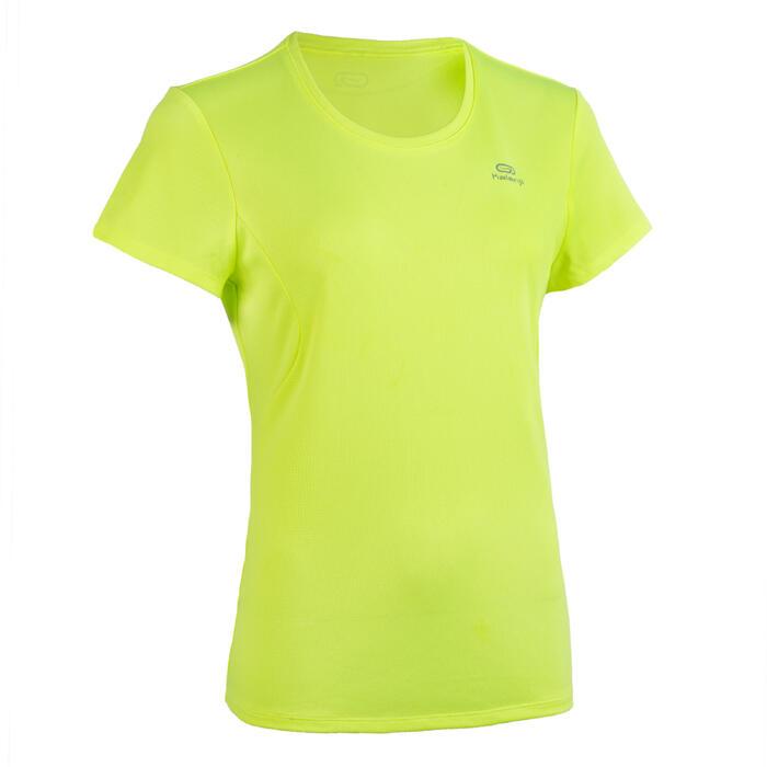 Atletiek T-shirt voor dames club personaliseerbaar fluogeel