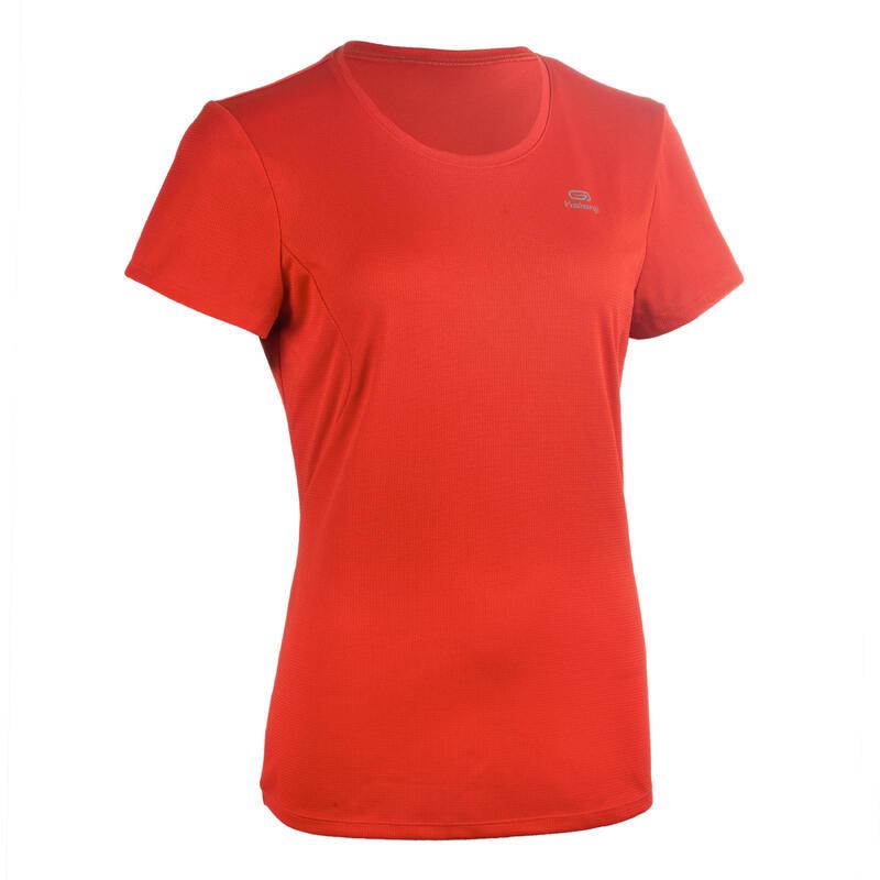 T-shirt de Atletismo Mulher Clube personalizável Vermelho