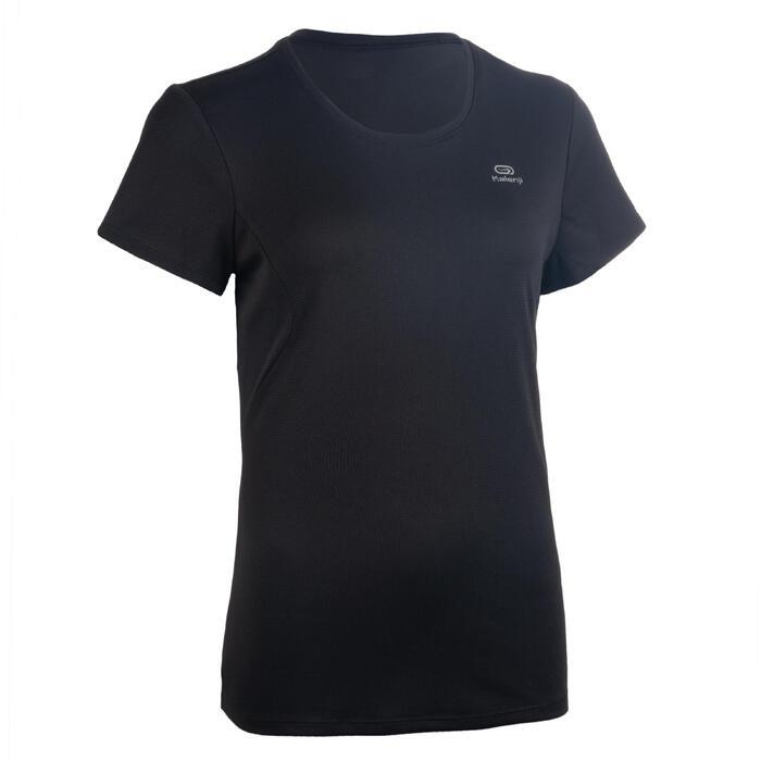 Atletiek T-shirt voor dames club personaliseerbaar zwart
