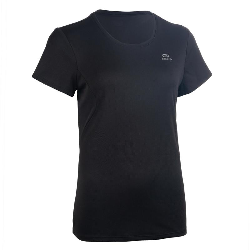 T-shirt de Atletismo Mulher Clube personalizável Preto