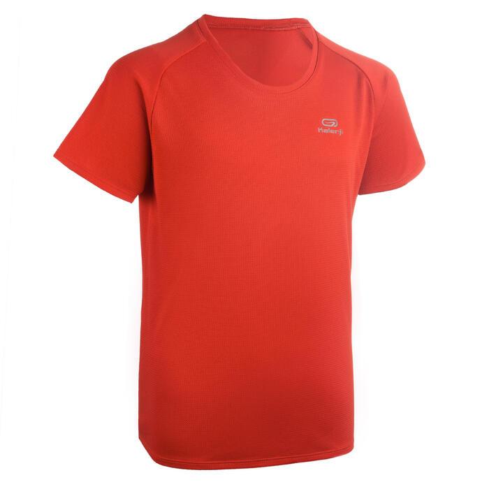 T-shirt voor atletiek kinderen club personaliseerbaar rood