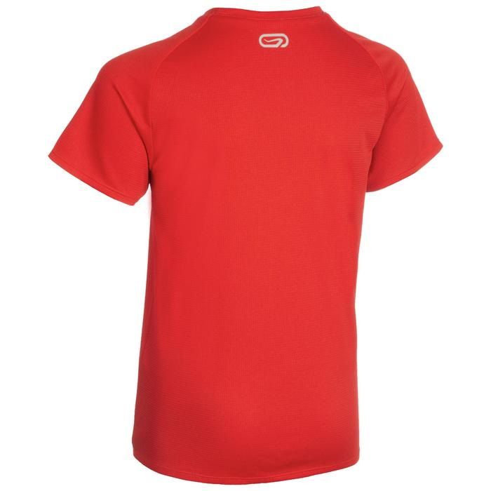 Atletiek-T-shirt kinderen club personaliseerbaar rood