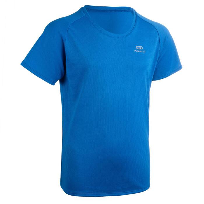 T-shirt voor atletiek kinderen club personaliseerbaar blauw