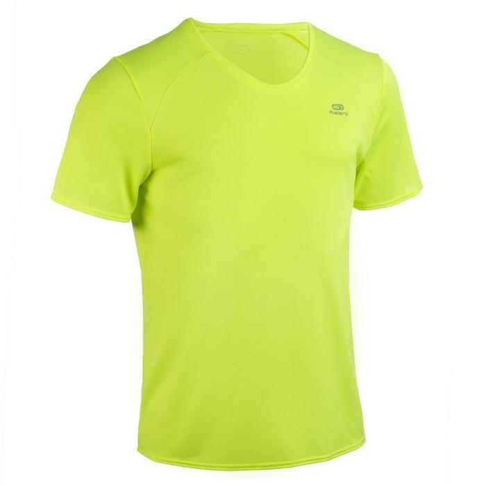 Atletiek-T-shirt heren club personaliseerbaar fluogeel