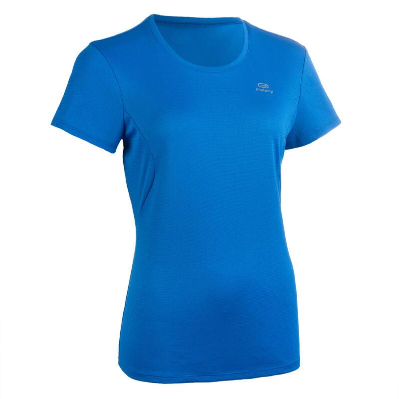 T-shirt de Atletismo Mulher Clube personalizável Azul
