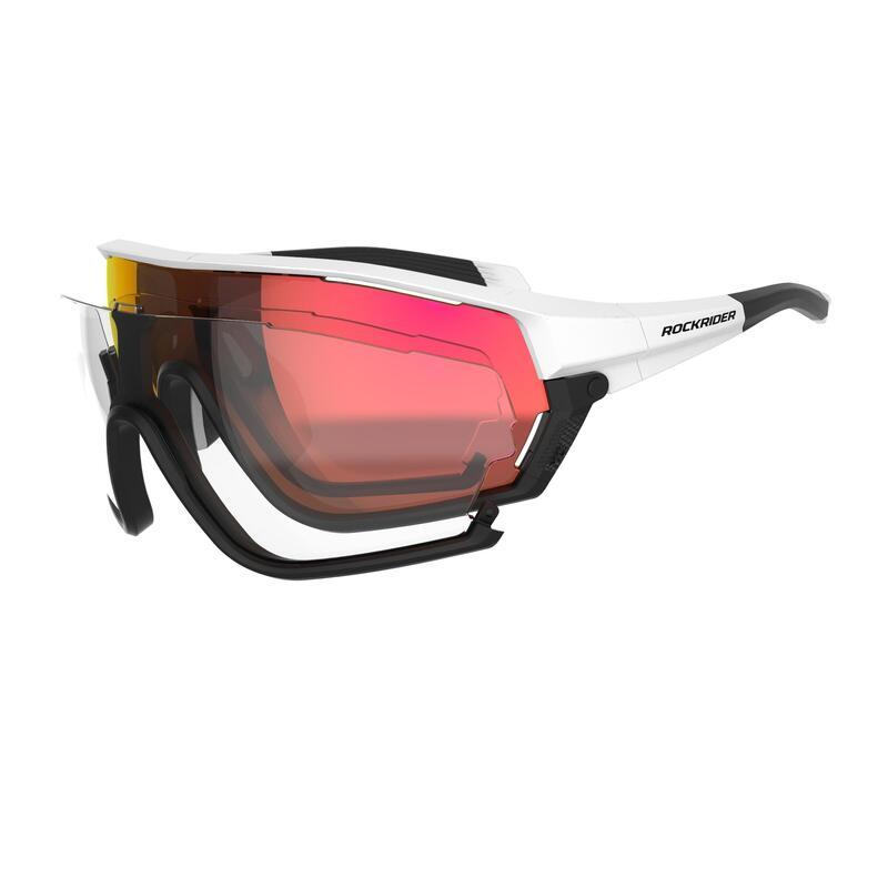 Cat 0 + 3 Interchangeable Anti-Fogging XC Mountain Bike Glasses Race - White