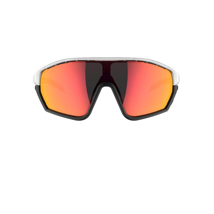 MTB bril XC Race wit met 2 paar dampwerende glazen categorie 0 en 3