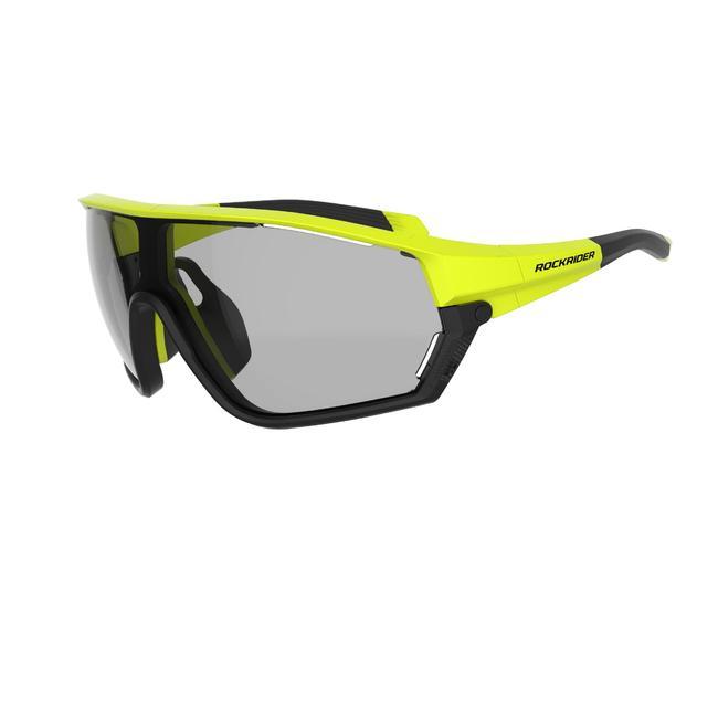 Cat 1-3 Photochromic XC Mountain Bike Glasses Race - Neon