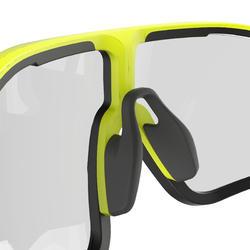 MTB bril XC RACE fluogroen met meekleurende glazen cat 1>3