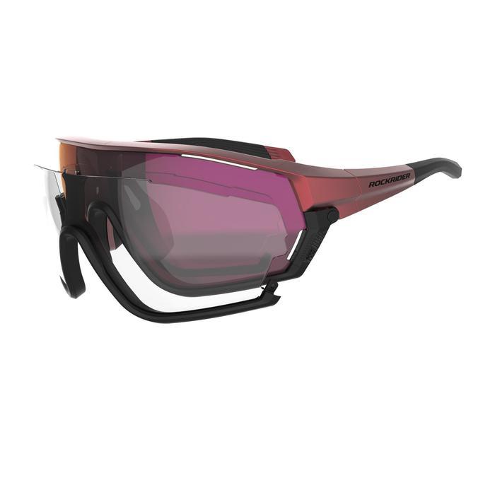 MTB-Sonnenbrille XC Race Anti-Beschlagschutz rot