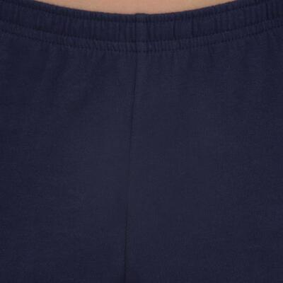 מכנסי התעמלות קצרים לבנים דגם 100 - נייבי