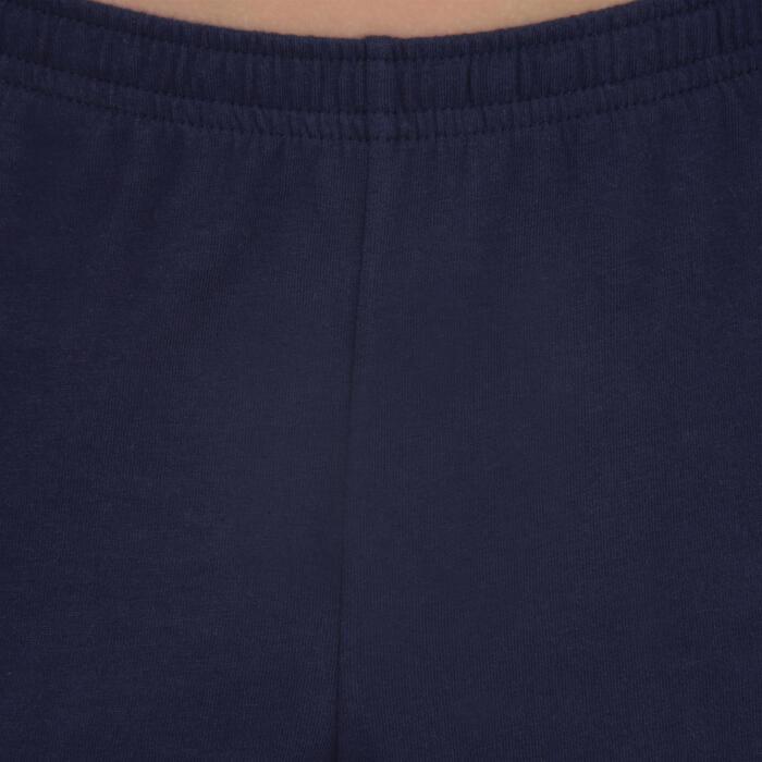 Sporthose kurz 100 Gym Kinder marineblau