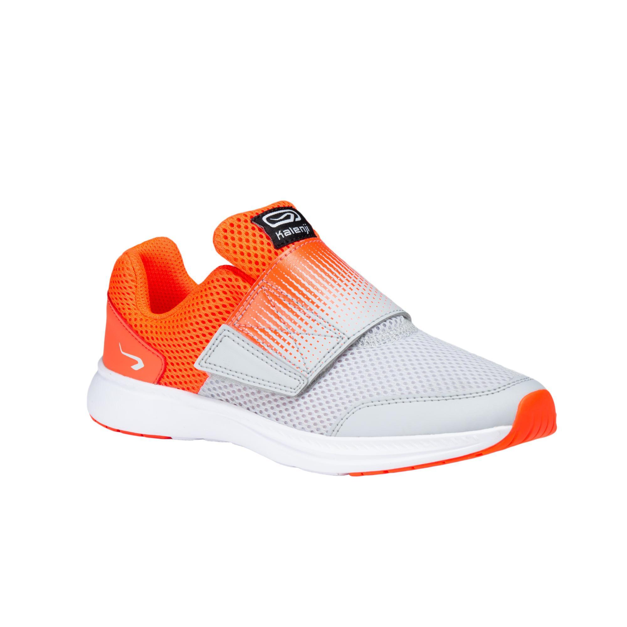 AT EASY KIDS' ATHLETICS SHOES - RED/GREY