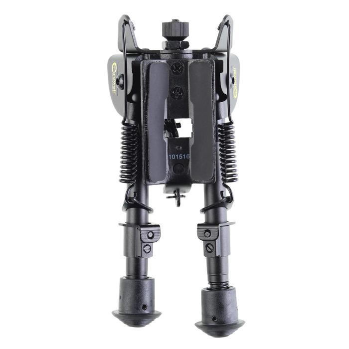 Bipied rétractable pivotant carabine