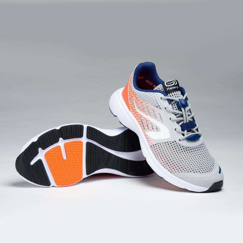 AT BREATH CHILDREN'S ATHLETICS SHOES GREY RED BLUE