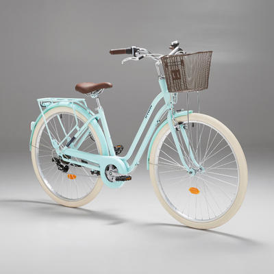 Elops 520 Low Frame City Bike - Mint