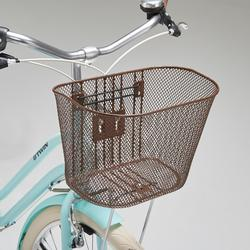 Stadsfiets Elops 520 laag frame mint - Damesfiets met transportrek en mand