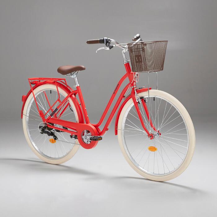 """City Bike 28"""" Elops 520 LF tiefer Einstieg rot"""