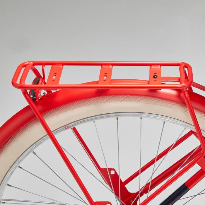 Stadsfiets Elops 520 laag frame rood