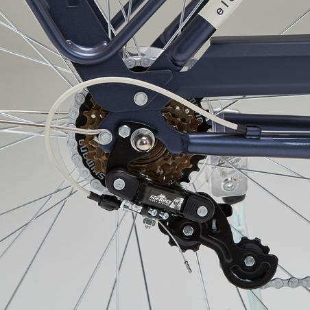 Elops 520 Low Frame City Bike - Blue