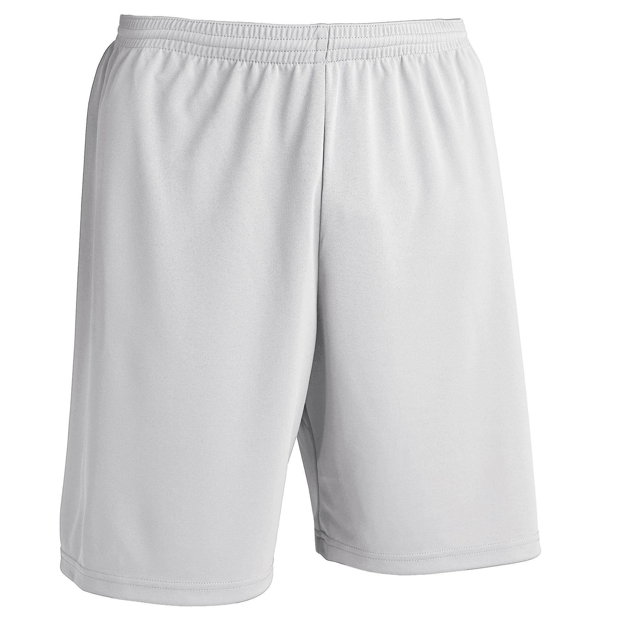 Short de football adulte F100 blanc  fbb4b5cb6da