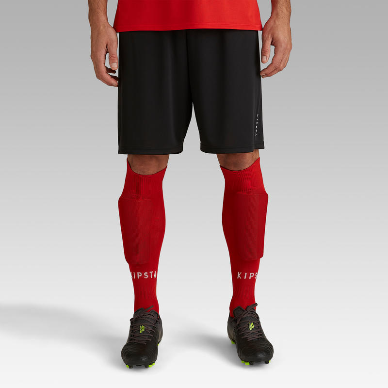 Short de fútbol adulto F100 negro
