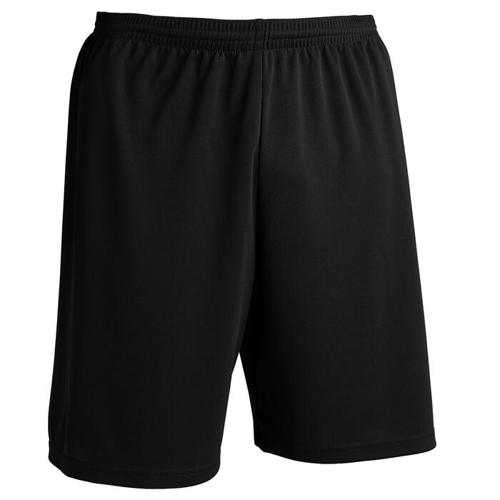 Short de football adulte F100 noir