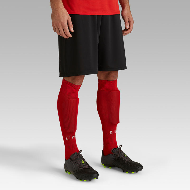 กางเกงฟุตบอลขาสั้นสำหรับผู้ใหญ่รุ่น F100 (สีดำ)