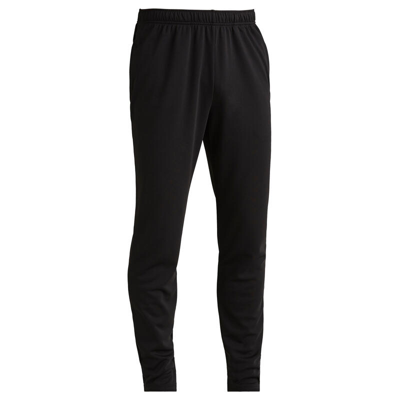 Pantalon Fotbal T100 Negru Adulți