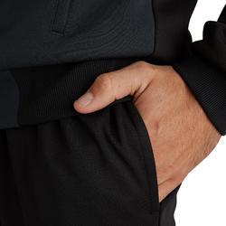 成人款足球長褲T100-黑色
