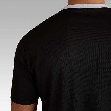 Playera de fútbol adulto F100 negro