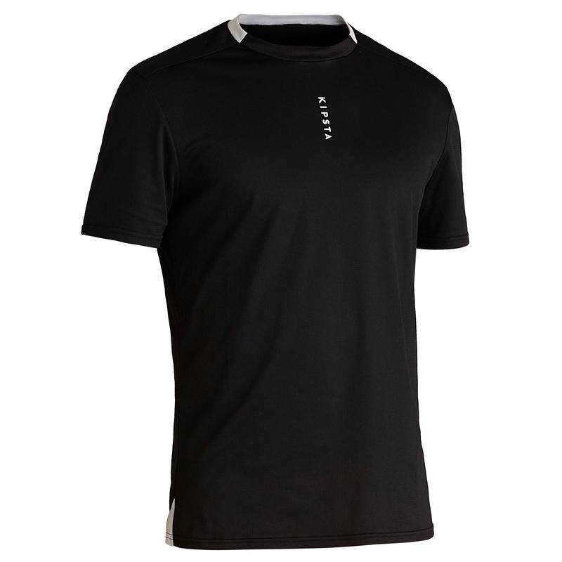 Camiseta de fútbol ecodiseñada adulto F100 negro