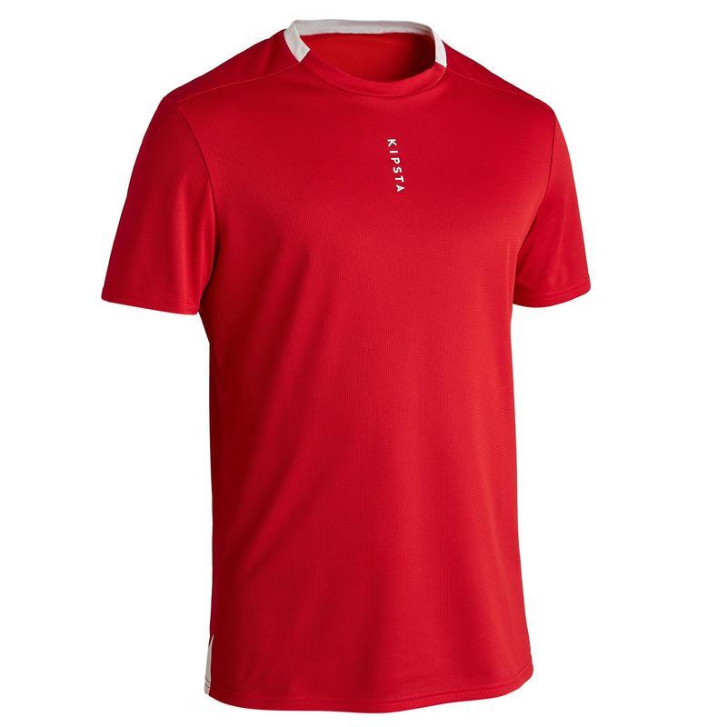 Voetbalshirt voor volwassenen F100 milieuvriendelijk rood