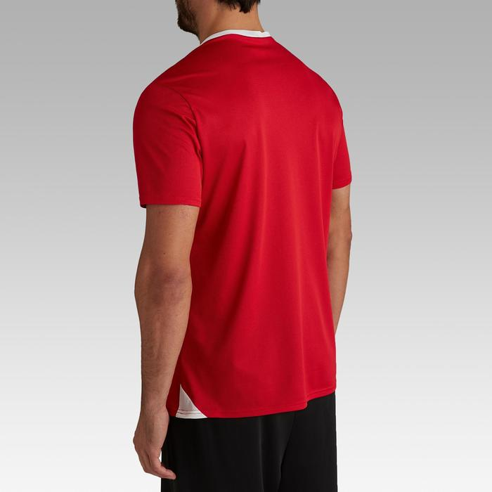Camiseta Fútbol adulto Kipsta F100 blanco rojo