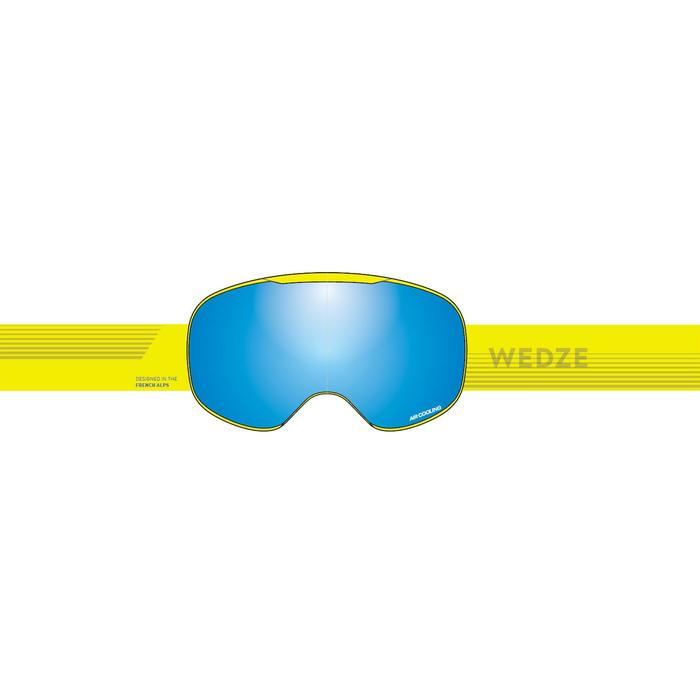 CHILDREN'S & ADULT'S GOOD WEATHER SKIING &SNOWBOARDING GOGGLES G900 -ASIA YELLOW