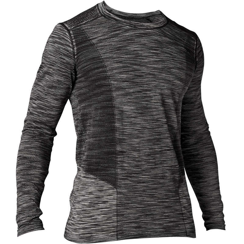 MAN YOGA APPAREL - Long-Sleeved Seamless Yoga T-Shirt DOMYOS