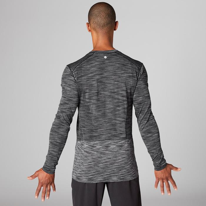 T-shirt manches longues YOGA sans coutures homme noir / gris
