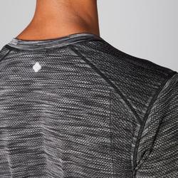 Langarmshirt Yoga nahtlos Herren schwarz/grau