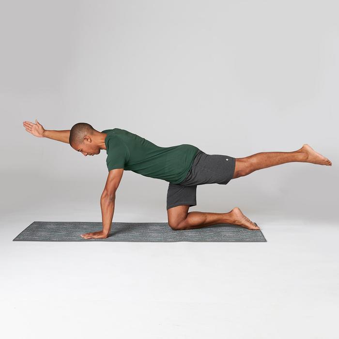 Naadloos heren T-shirt met korte mouwen voor zachte yoga groen