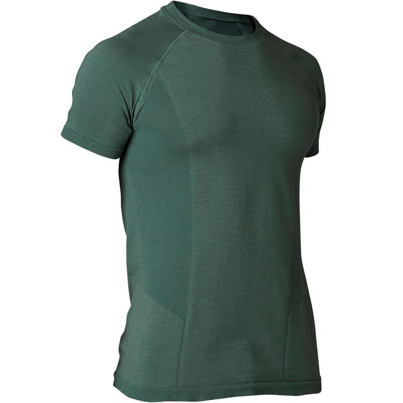 outlet store e7a53 dde03 Abbigliamento uomo - T-shirt uomo yoga seamless verde