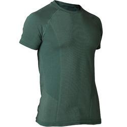 Seamless Half-Sleeved Gentle Yoga T-Shirt - Green