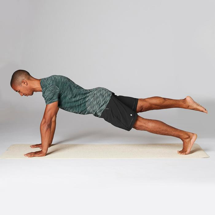 Sporthose kurz Yoga Herren schwarz