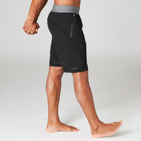 Woven Dynamic Yoga Shorts - Black