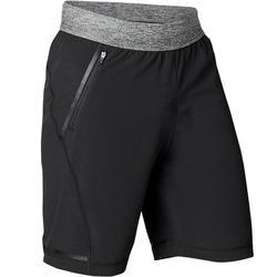 Pantalón Corto Deportivo Yoga Dinámico Domyos Hombre Negro