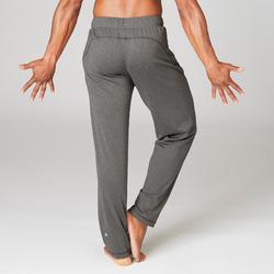 Pantalón Chándal Yoga Domyos Hombre Gris