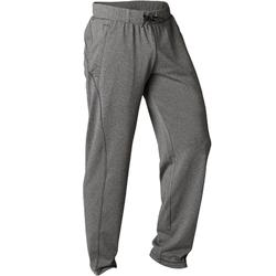 Pantalón Chándal Yoga Dinámico Domyos Hombre Gris