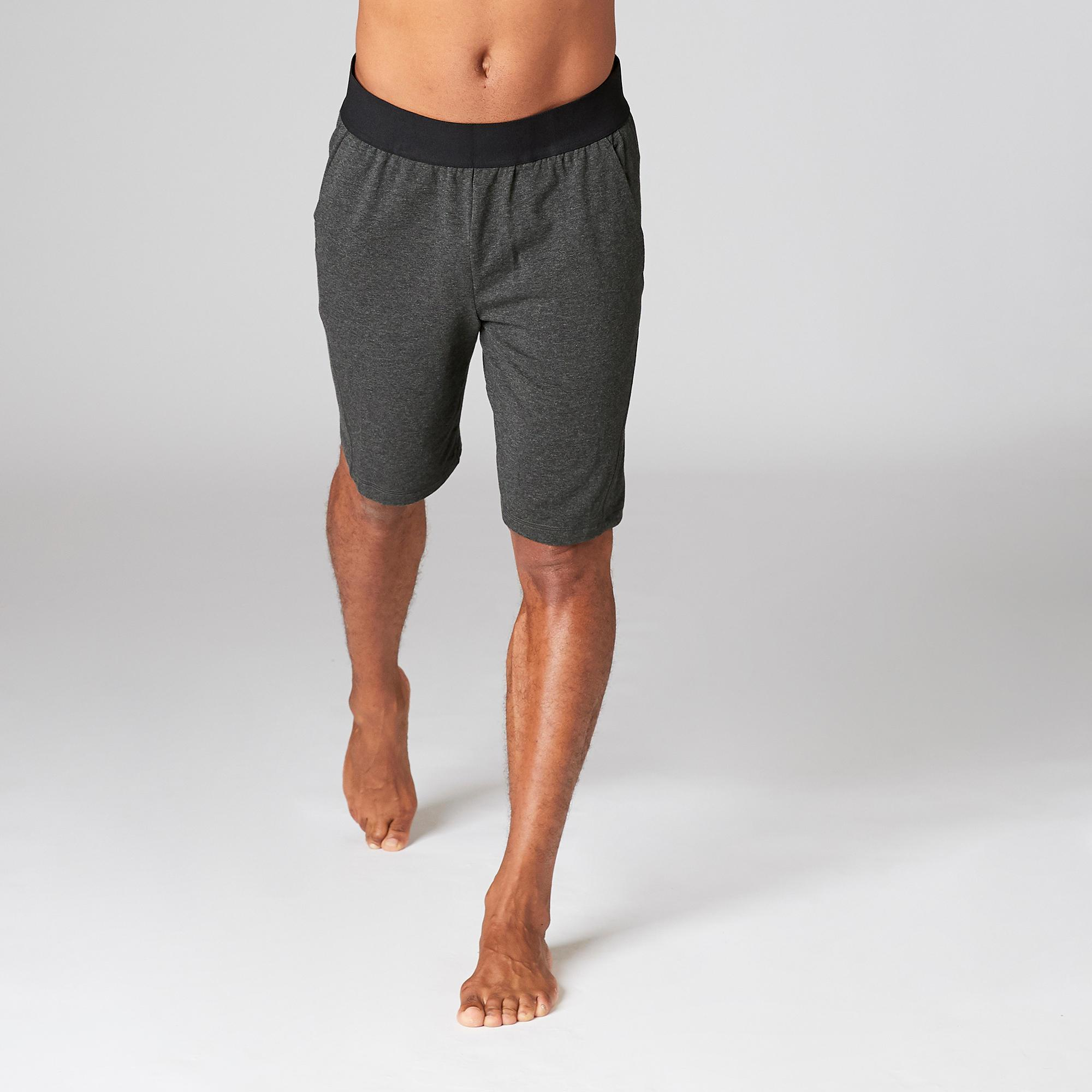 hot new products lowest discount better Organic Cotton Gentle Yoga Shorts - Black | Domyos by Decathlon