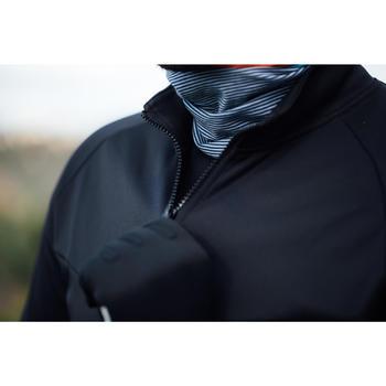 Herenshirt met lange mouwen wielertoerisme fris weer RC100 turkooisblauw/zwart