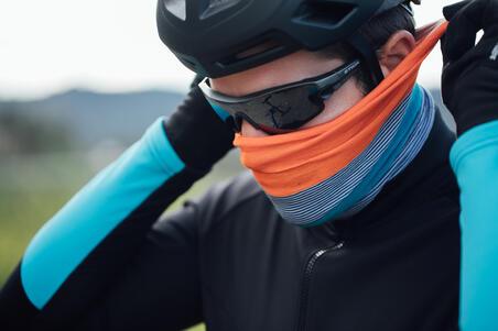 Cycling Neck Warmer RoadR 100 - Blue/Mint