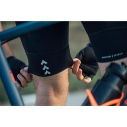 Fietsbroek met bretellen voor heren wielertoerisme RC100 navy/oranje